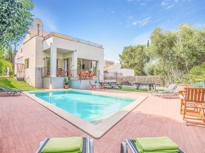 Photo for 4 bedroom Villa, sleeps 8 in es Mal Pas with Pool, Air Con and WiFi