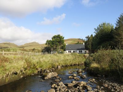 Photo for Raven Cottage in the beautiful Glen Eynort near carbost. 3 bedrooms, 6 people.
