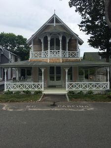 Photo for Classic Oak Bluffs Gingerbread Cottage with Water View