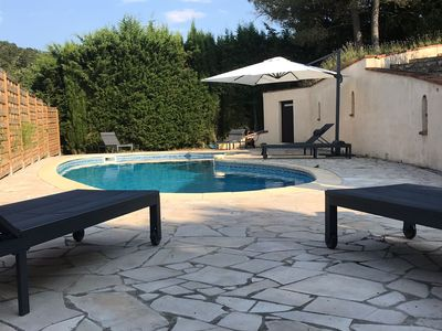 Photo for Stylish villa, 13m private pool, tranquil garden, close to village amenities