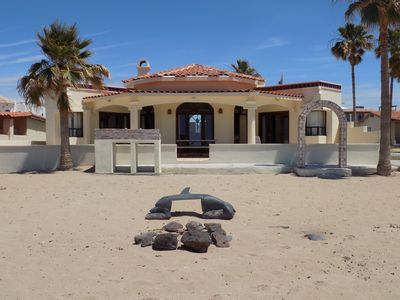 Photo for Ocean Front Private 3 BR/3 BA Beach Home in Las Conchas, Steps to the Beach