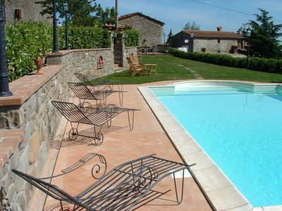 Photo for Villa in Cortona with 2 bedrooms sleeps 6