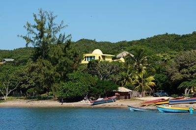 Beach with fishermen's boats &  view of house from ocean.  Buy fresh fish!