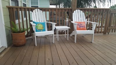 Enjoy cool the breeze and morning coffee or evening sunsets on the Lower Deck