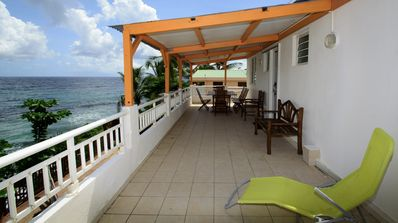 Photo for Top of a villa with direct access to the beach Anse Caffard to DIAMANT