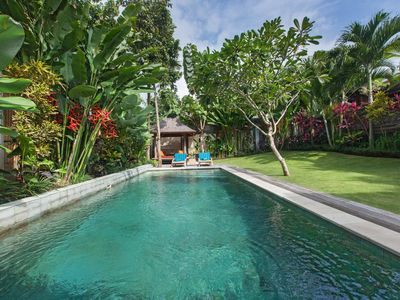 Photo for 2BR private pool villa with nice tropical garden, Close to Beach, Seminyak