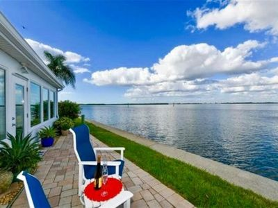 Photo for Villa full Sarasota bay view from your patio