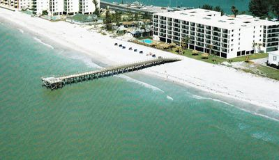 Arial view of our building w/its private pier (Key required for access)
