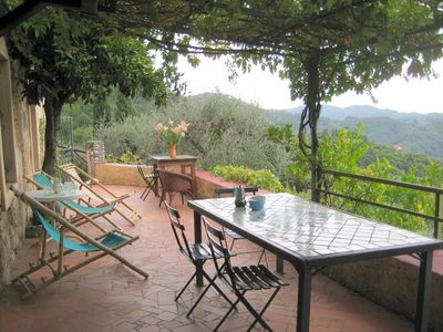 Photo for House with marvellous view set in olive groves on hillside,  25 mins from coast