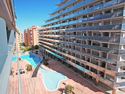 Photo for One bedroom Apartment, sleeps 4 with Pool, Air Con and Walk to Beach & Shops