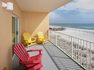 Photo for Beautiful views from corner, beach front condo!! Low floor! Walk to everything