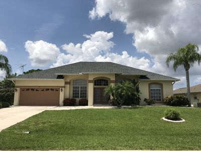 Photo for New Vacation Rental! Charming 4 bedroom villa with a heated pool and spa!