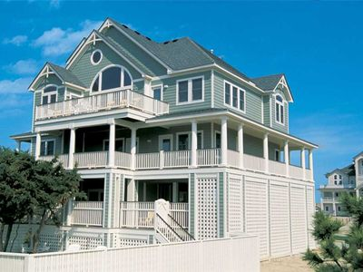 Photo for Desirable Semi-Oceanfront in Avon -Direct Beach Access, Pool, Hot Tub, Game Room