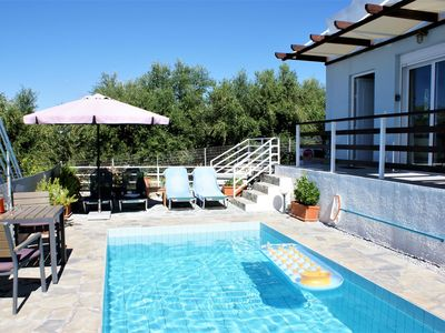 Photo for Holiday home with pool and beautiful views coastline Rethymno, Sfakaki, NW coast