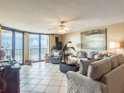 Photo for Beautifully decorated, super spacious, gulf front condo with gorgeous views! Sle