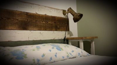 Headboard made from old boards