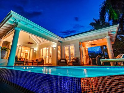 Photo for New 4 bedroom villa with infinity pool short walk to Beach!