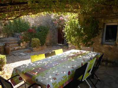 Photo for charming stone house with pool in southern Ardèche, beautiful setting