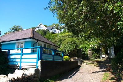 our cottage tucked away in private lane  just30m from harbour  & coastal path.