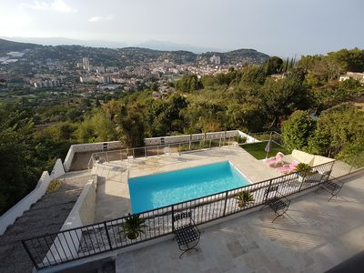 Photo for Villa in Super Cannes with Private Pool and Panoramic Views 5 min to the Beach