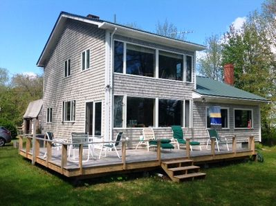 Maine 'cottage' and deck on sea side
