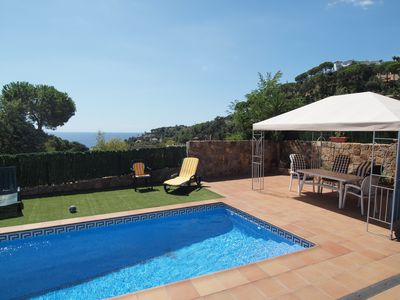 Photo for Stunning villa in Sta. Maria de Llorell, Tossa de Mar, with Sw. Pool, near the beach