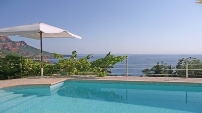 Photo for Apartment ground floor - 5 people - Private pool - Sea view - WiFi - Anthéor