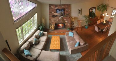 Photo for Large, Cozy Mountain Home w/ Fireplace and Magical Backyard!