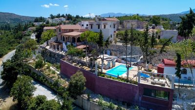 Amazing villa,13 persons,Almyrida,Chania,Main facade of the property