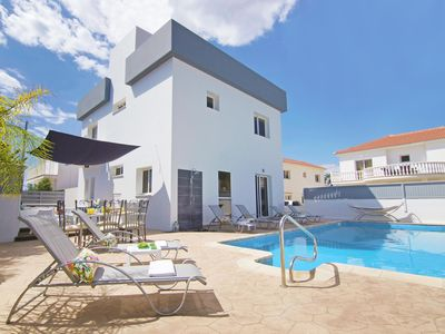 Photo for This 4-bedroom villa for up to 8 guests is located in Ayia Napa and has a private swimming pool, air