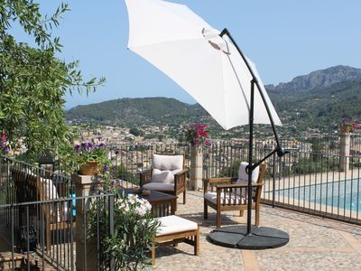 Photo for Cozy house with stunning views, infinity pool, WIFI, on the hills above Sóller