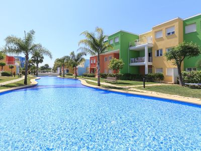 Photo for Nice apartment for 4 guests with pool, A/C, WIFI, TV and parking