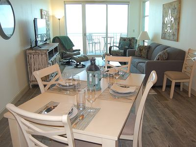 Photo for Beach View Condo w/ WiFi, Resort Pool & Fitness Center Access