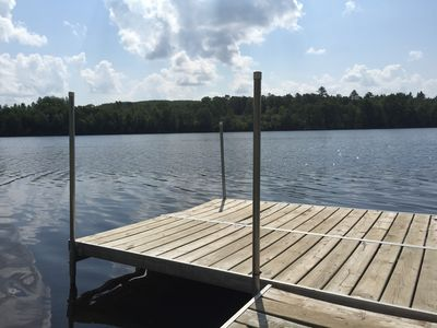 Photo for Private Lake House on 16 wooded acres, 80 + acre lake, 55 foot deep!!