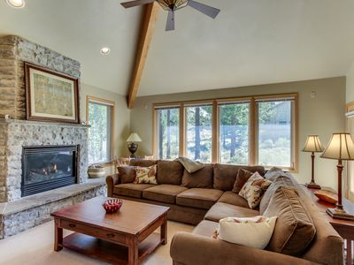 Photo for Peaceful single-level getaway w/ private hot tub, gas fireplace, & SHARC passes!