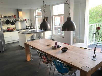 Photo for Spacious 2-floor loft with roofterrace next to the Vondelpark
