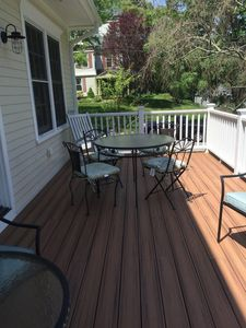 Enjoy your morning coffee or afternoon cocktail on back deck.