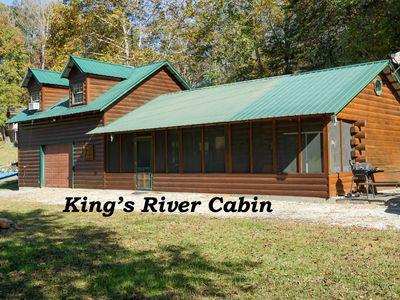 King's River Cabin where you find the Tuckasgee River as the backdrop.