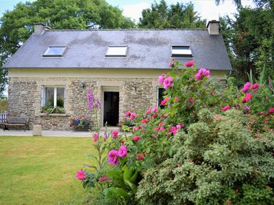 Photo for Heart of Brittany Traditional Breton cottage sleeps max 6 nestled in nature