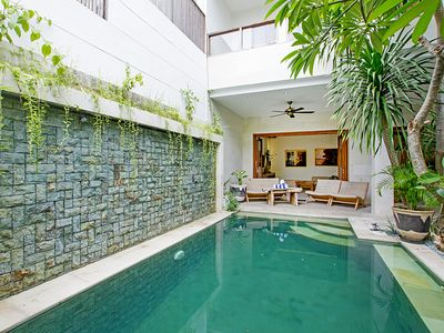 Photo for Modern Villa, Enclosed living, pool, walk to restaurants, beach shop in Seminyak