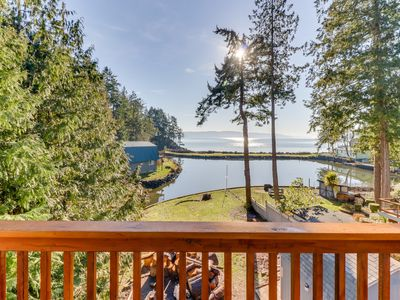 Photo for NEW LISTING! Waterfront home on Hood Canal w/ two decks, firepit, & great views!