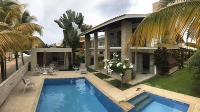 Photo for Complete house, 4 bedrooms w / air, 2 suites, 5 bathrooms, pool, barbecue