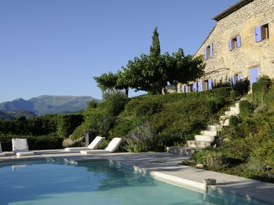 Photo for Authentic Provence Mas, heated swimmingpool and exceptional views in La Drome