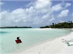 You are just steps away from your own private white sand beach!!