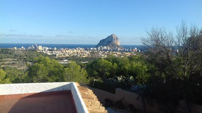 Photo for A villa with spacious grounds, huge views of Calpe, Penyon Ifach, the mountains.