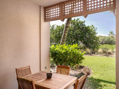 Photo for Stunning townhome golf nearby, two bedroom, two and a half bath luxury property, Colony Villas 104, In Waikoloa.