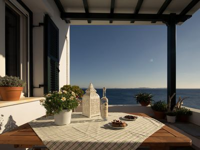 Photo for Villa Thimari seafront apartment - Two bedrooms