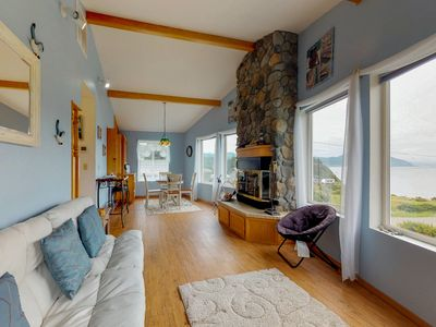 Photo for Comfortable, dog-friendly house right in town with ocean and Humbug Mtn views