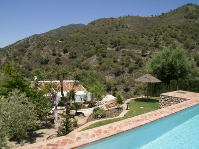 Photo for Charming Andalusian farmhouse with private pool in mountainous area