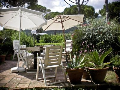 Photo for MONTE ARGENTARIO - HOUSE WITH GARDEN ON GIANNELLA, NEAR THE SEA.